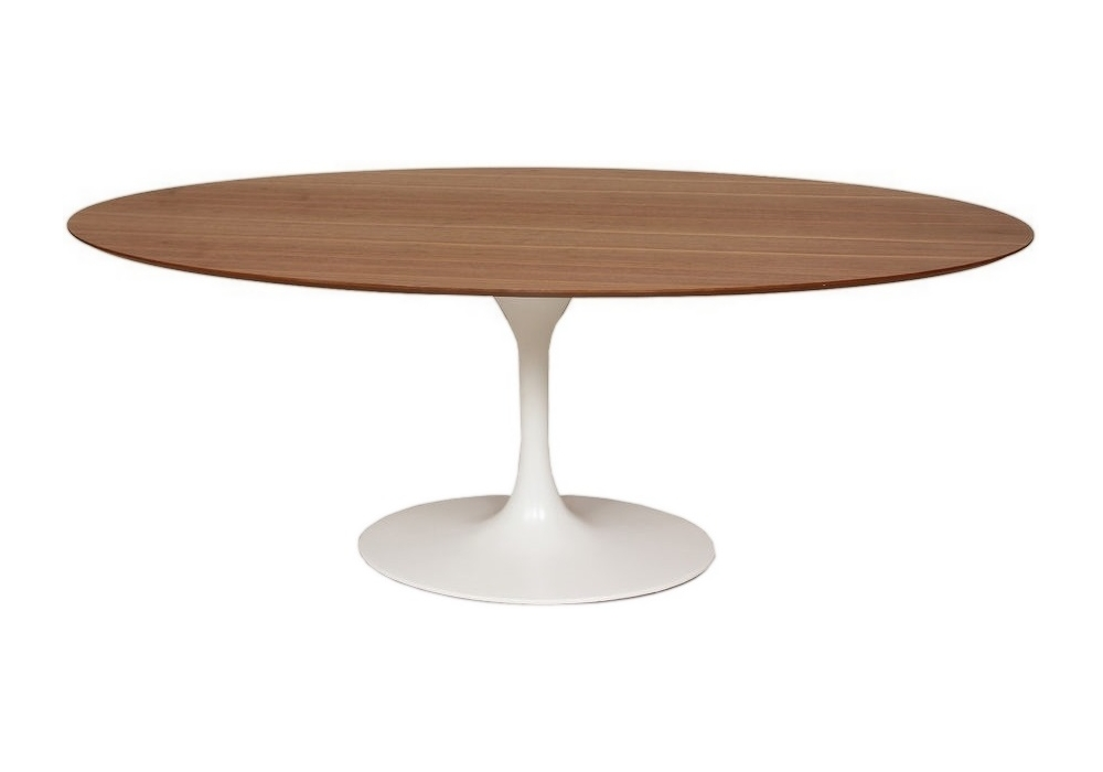 Saarinen Knoll Oval Table Wood - Milia Shop