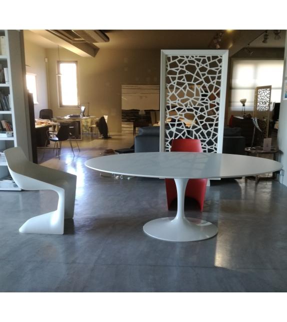 Knoll Saarinen Tavolo Ovale In Legno