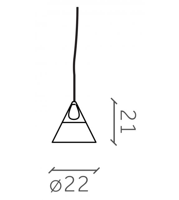 Slope Miniforms Piccola Lampada a Sospensione