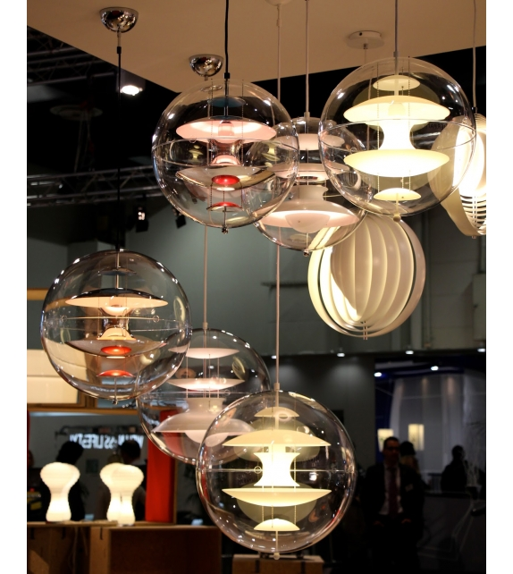 Vp Globe Coloured Glass Verpan Suspension