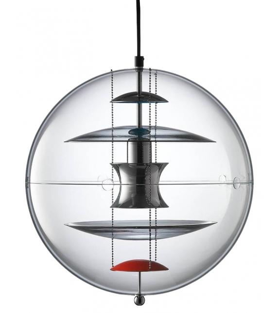 Vp Globe Coloured Glass Verpan Suspension Lamp
