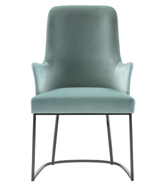 Me Flexform Small Armchair with Metal Base
