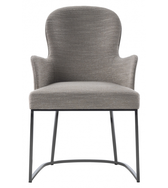 You Flexform Small Armchair with Metal Base