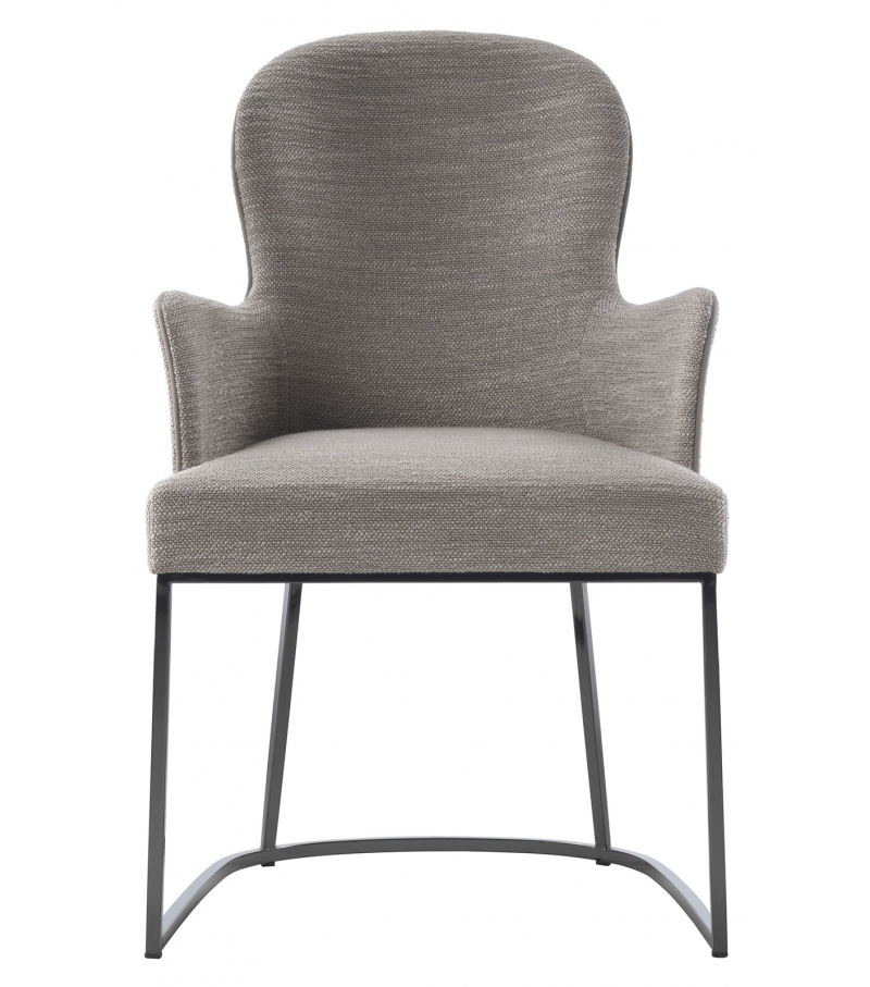 You flexform small armchair with metal base milia shop for Chaise longue aluminium