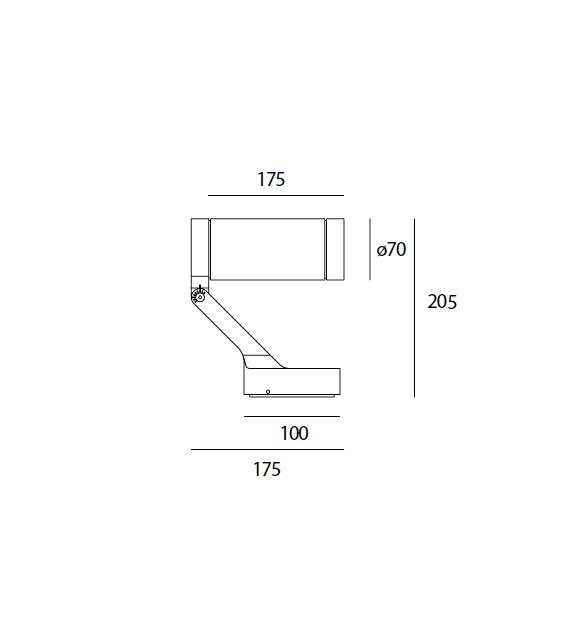 Obice Artemide Wand/Deckenleuchte