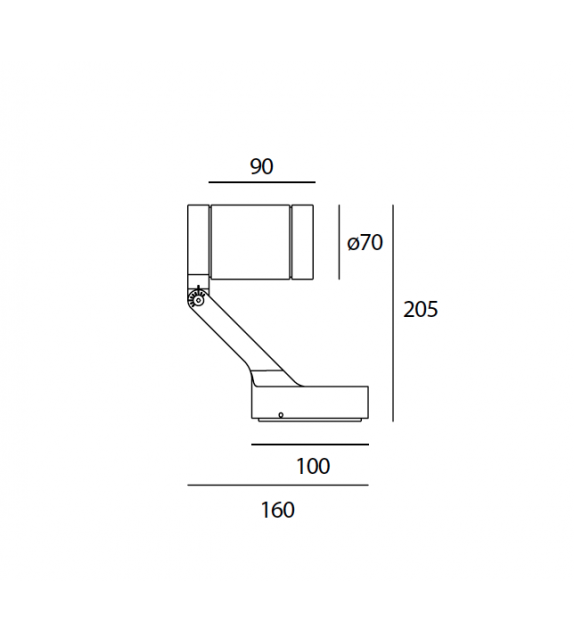 Obice Mini Artemide Wall/Ceiling Lamp