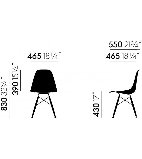 Eames plastic side chair DSW imb. sedia