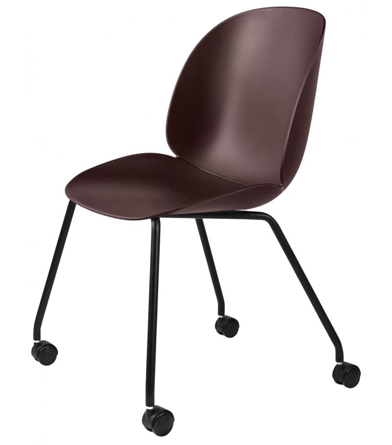 beetle meeting gubi chair with castors milia shop. Black Bedroom Furniture Sets. Home Design Ideas