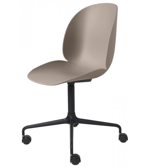 Beetle Gubi Chair with Castors