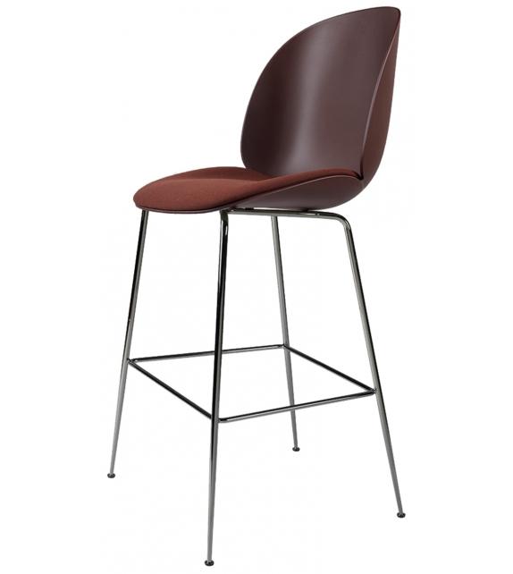 Beetle Gubi Chaise Bar avec Assise Revêtue