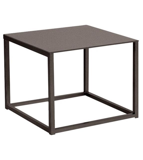 Kettal Landscapes Side Table with Teak Top
