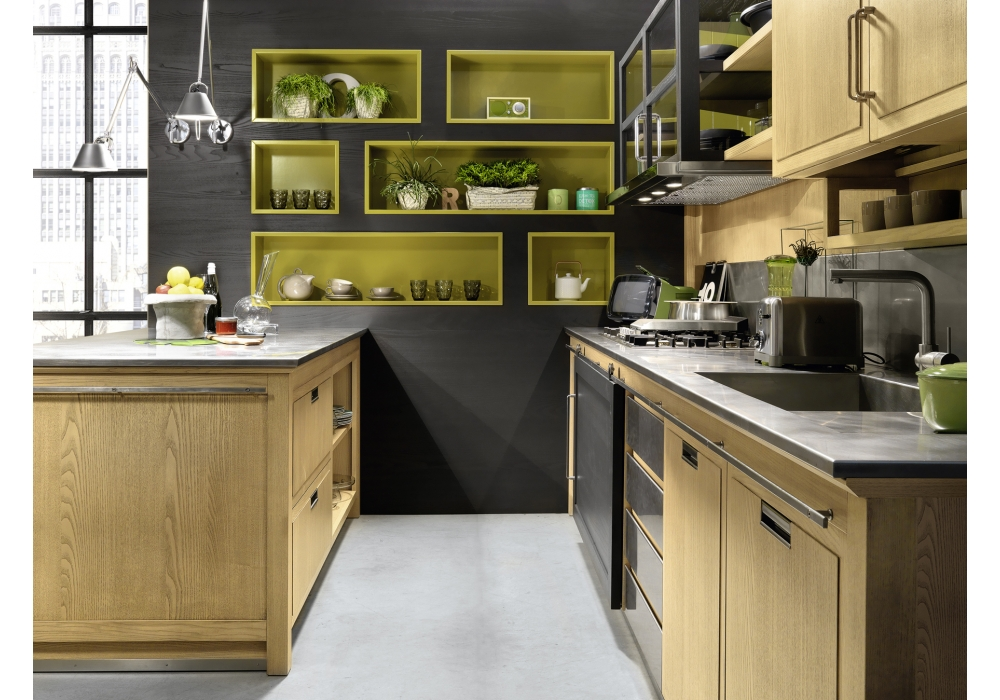 Industrial chic l 39 ottocento kitchen milia shop - Cucine l ottocento industrial chic ...