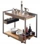 Mojito Wood Cattelan Italia Chariot Bar