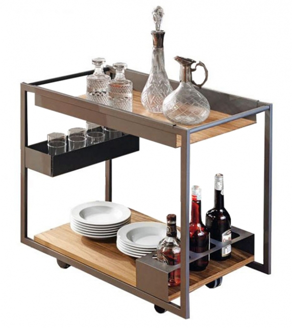 Mojito Wood Cattelan Italia Servierwagen Bar