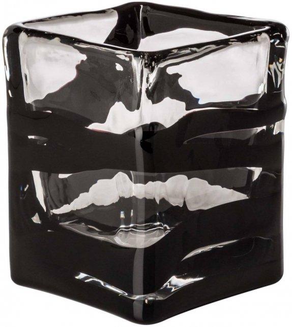 Venini Black Belt Quadro Vase