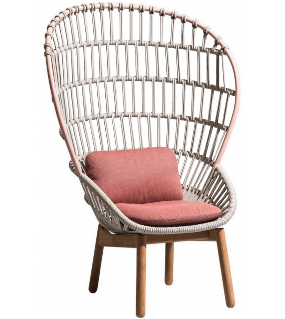 Cala Kettal Armchair with Wooden Base