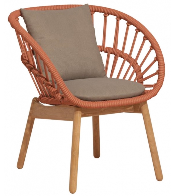 Cala Kettal Dining Armchair with Wooden Legs