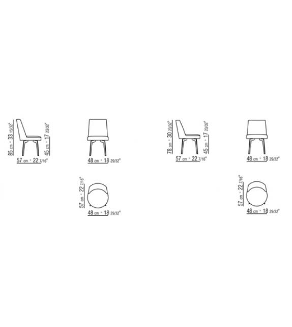 Hera Flexform Chair with Metal Legs