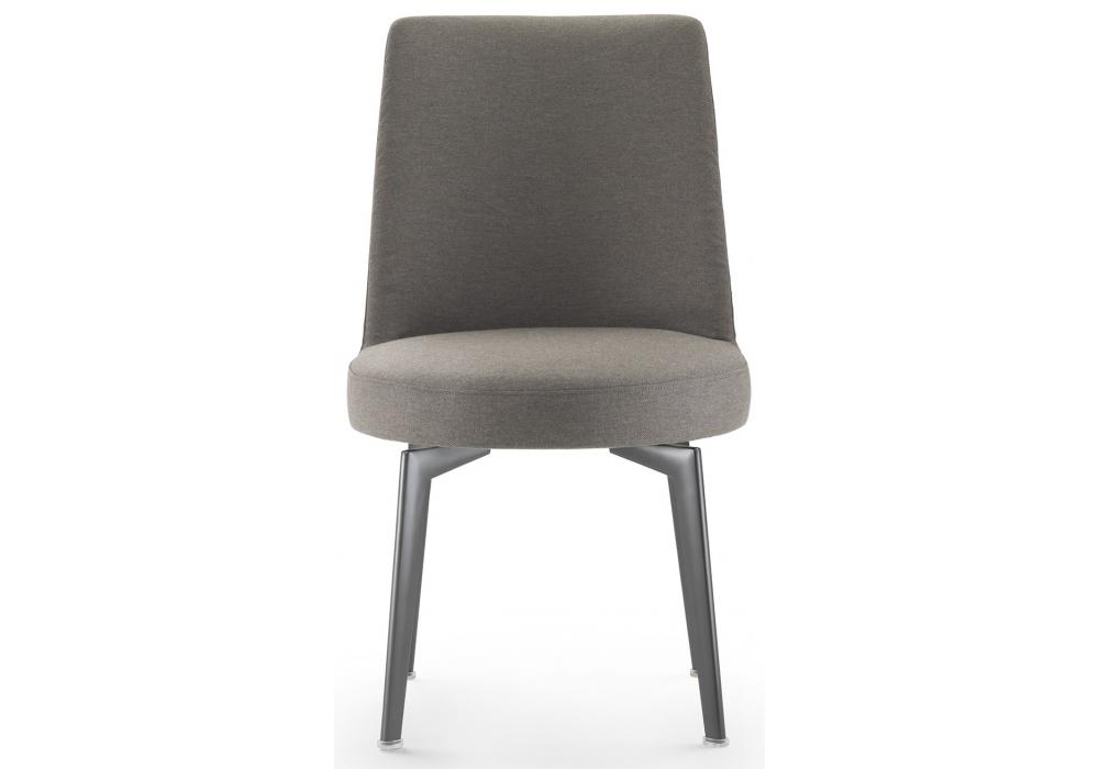 Hera flexform sedia con gambe in metallo milia shop