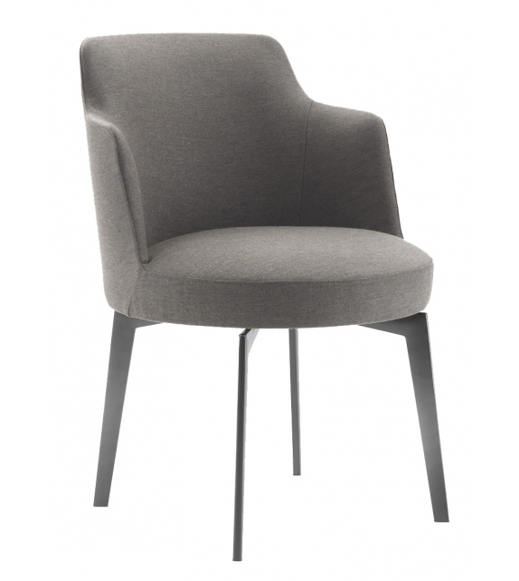 Hera Flexform Small Armchair With Metal Legs