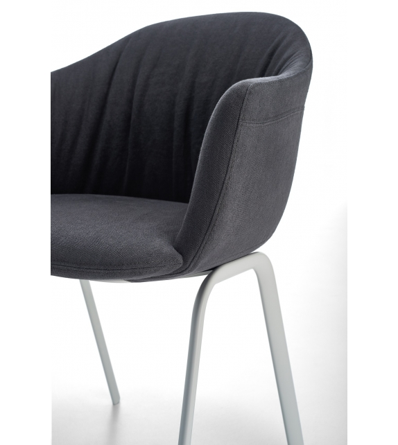 Siena MDF Italia Easy Chair with 4 Metal Legs