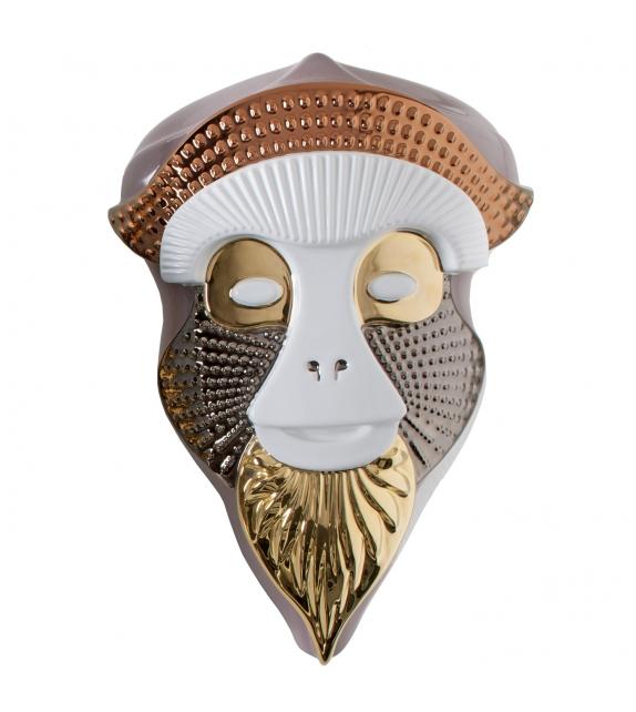 Primates Masks Brazza Sculpture Bosa