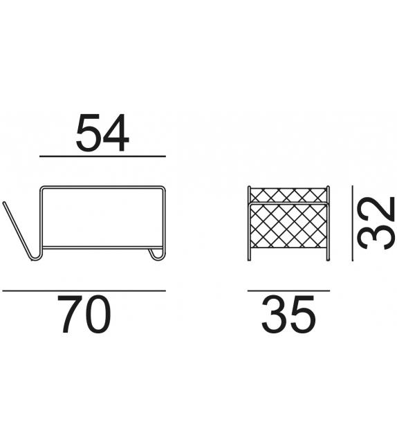 Cross 44 Gervasoni Beistelltisch - Zeitschriftständer