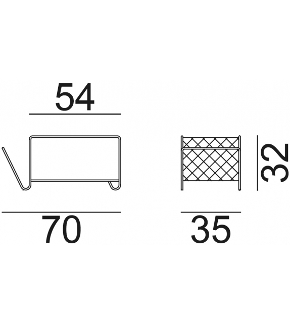 Cross 44 Gervasoni Magazine Rack - Side Table