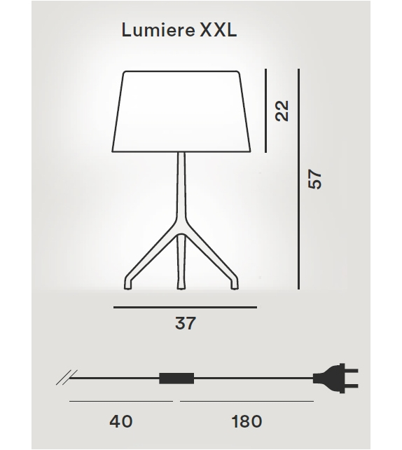 Foscarini: Lumiere XXL Table Lamp