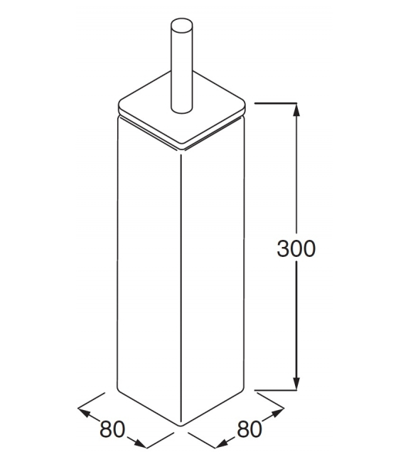 RL11 Boffi Porte-brosse Pour Toilettes
