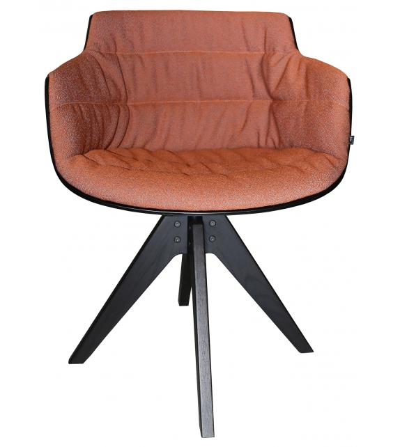 Flow Slim Color Padded Armchair With 4-Legged VN MDF Italia