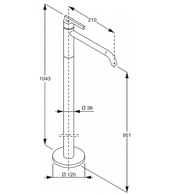 Liquid Boffi Floor Standing Washbasin Mixer Tap