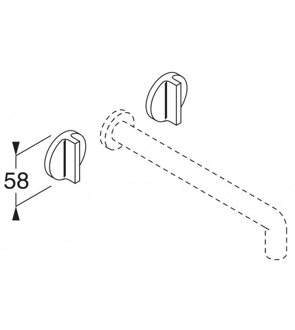 Liquid Boffi Wand-Armaturen-Paar