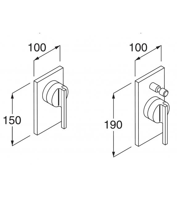 Boffi Liquid Wall-mounted Bathtub/Shower Mixer Tap