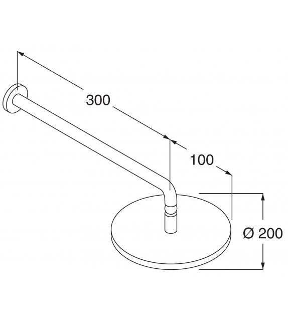 Liquid Boffi Wall-mounted Shower Head