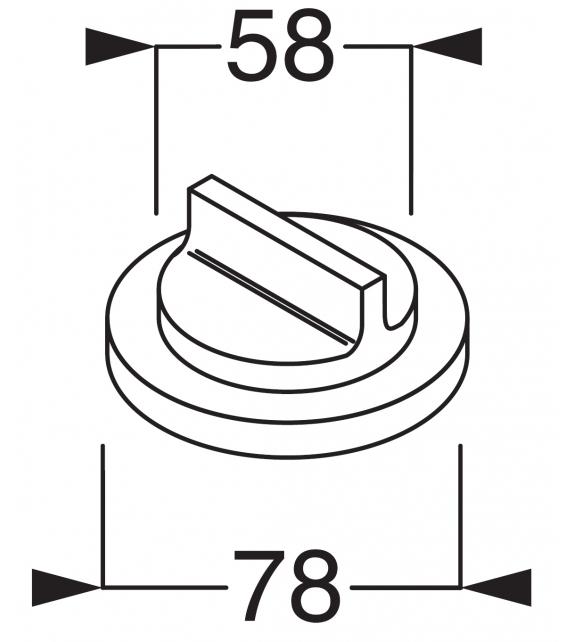 Liquid Boffi Wall-mounted 3-Way Deviator