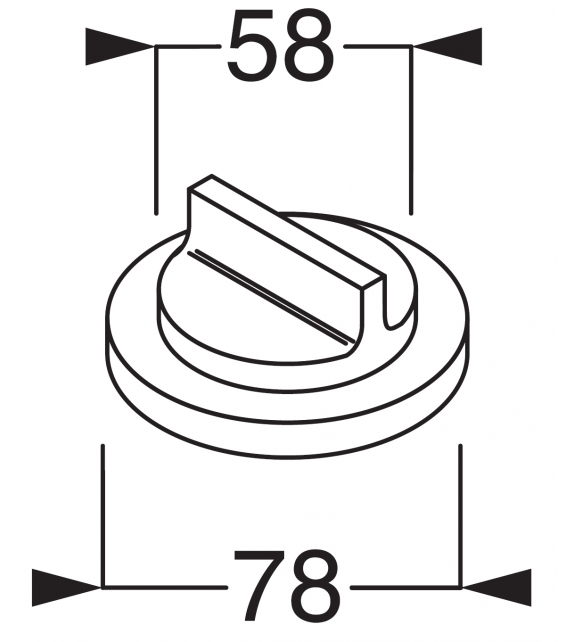 Liquid Boffi Wandmontierter 3-Wege-Deviator