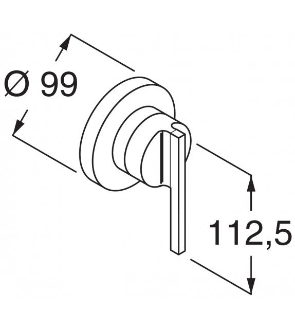 Liquid Boffi Wall-mounted Washbasin/Bathtub/Shower Mixer Tap