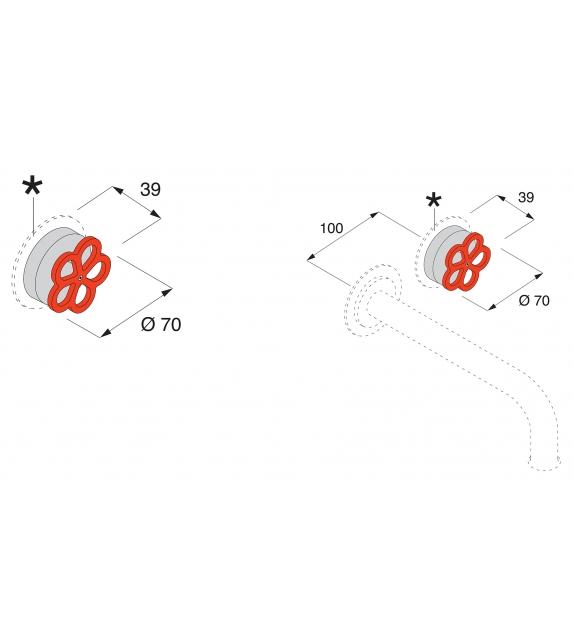 Pipe Boffi Aufsatzmischbatterie