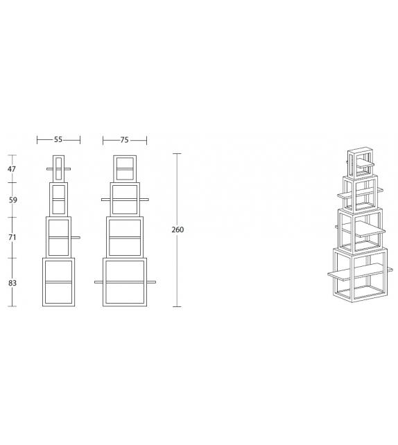 La Torre dei Trampolini Lithea Bookshelf