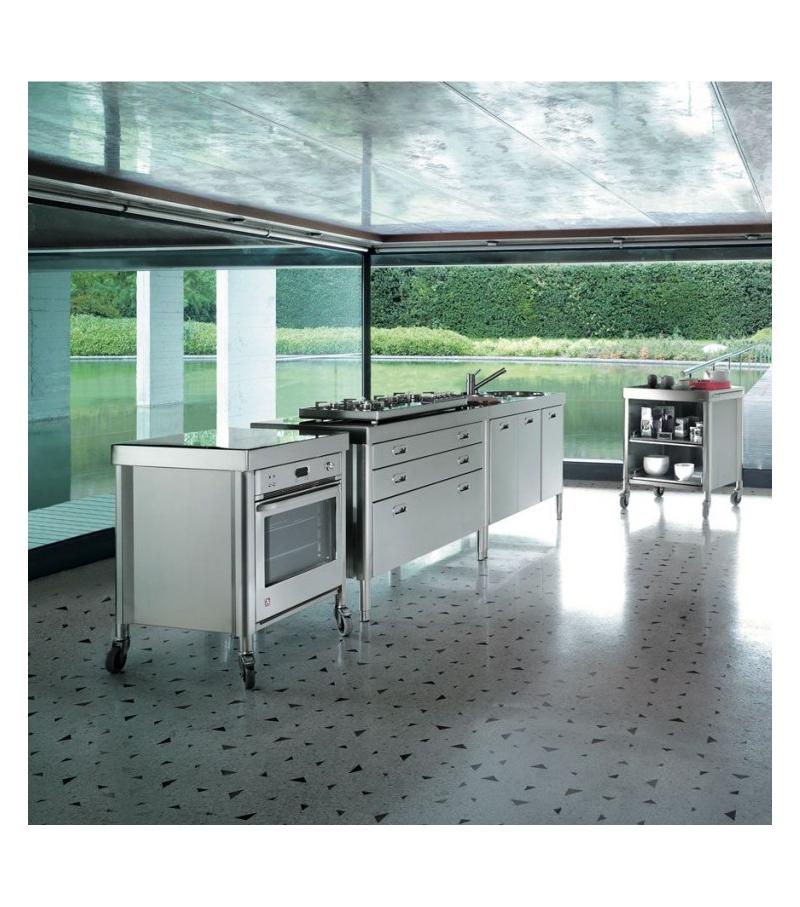 Composizione cucina 130 alpes inox milia shop for Cucina shop