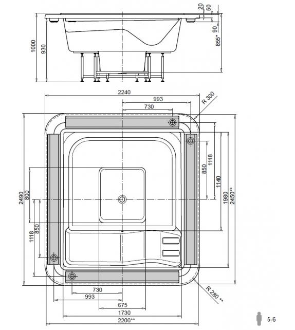 MySpa 0F250/225 Glass1989 Spa con Desbordamiento