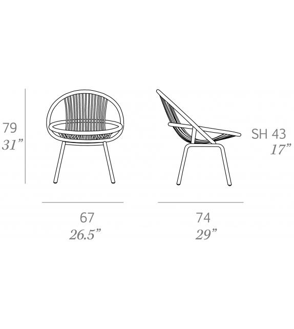 Radial Outdoor Expormim Armchair