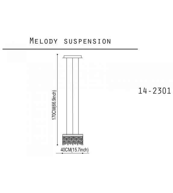 Melody Quasar Hängeleuchte