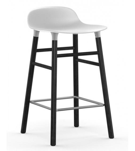 Form Normann Copenhagen Barstool with Wood Legs