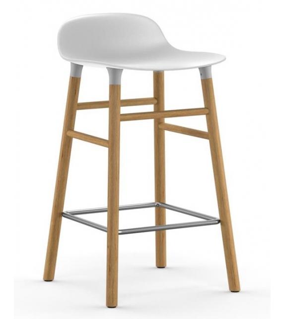Form Normann Copenhagen Stool with Wood Legs