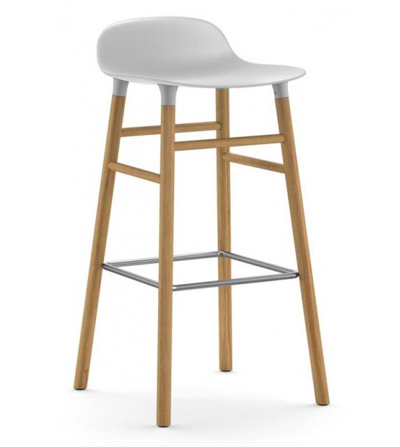 Form Normann Copenhagen Hocker mit Holzbeine