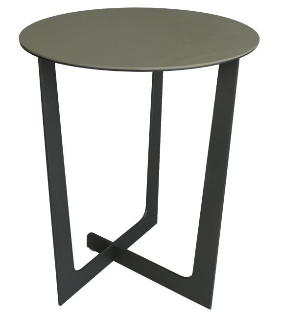 Ilary Saddle Extra Runder Tischchen Poltrona Frau