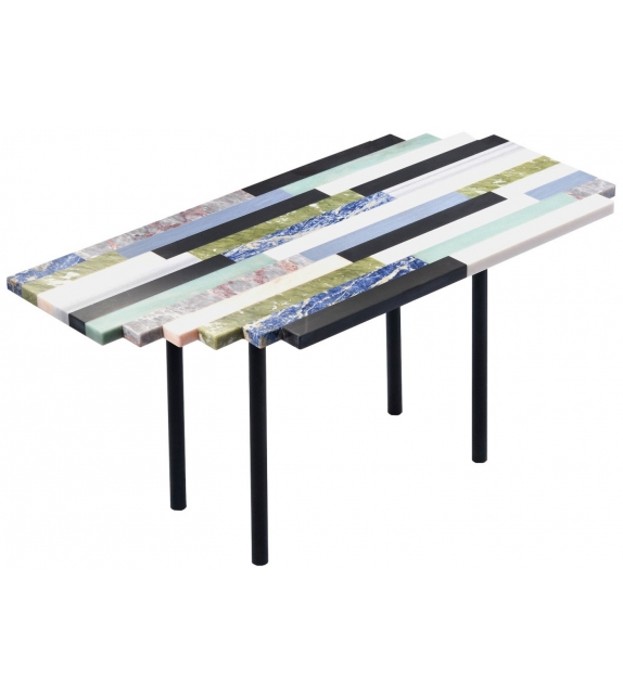 Zig Zag Linear Budri Coffee Table