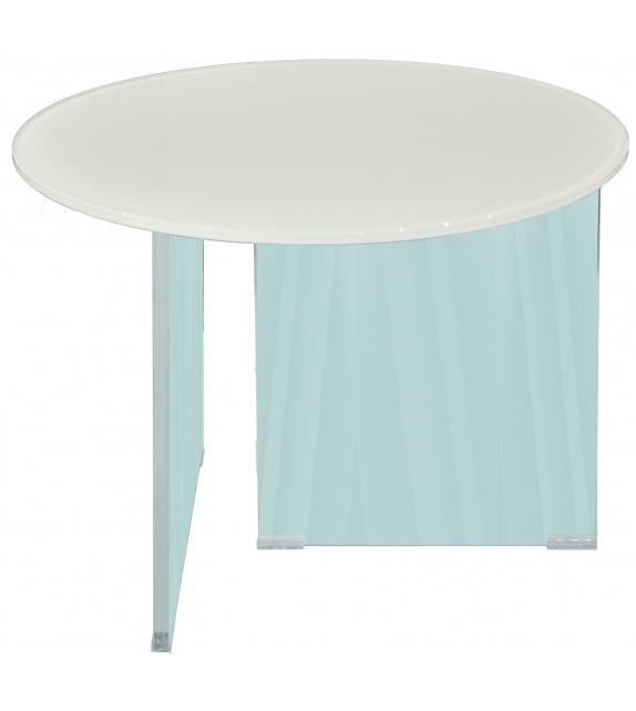 Air Round Lago Tavolino con Piano in Vetro